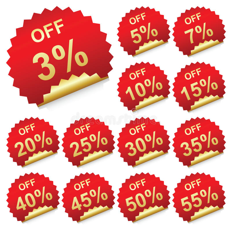Download Discount labels stock vector. Image of merchandise, realistic - 23739599
