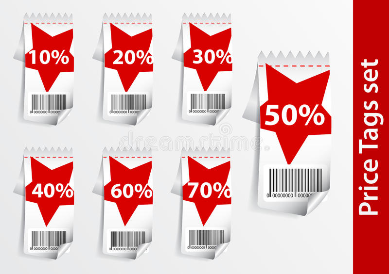Discount labels .with star stock illustration