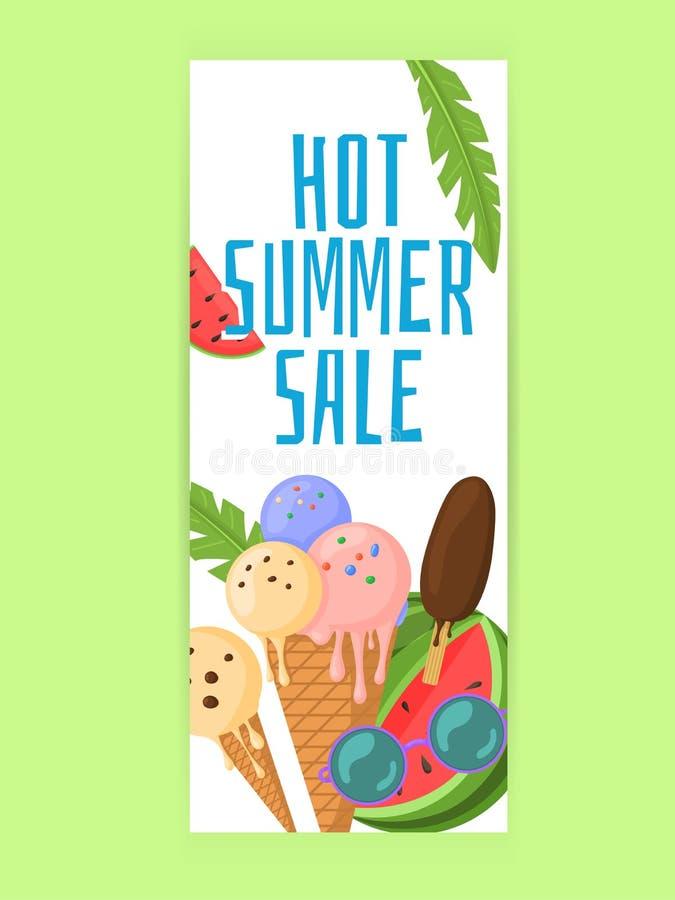 Discount moderne Sommer Promo Web-Banner vektor abbildung