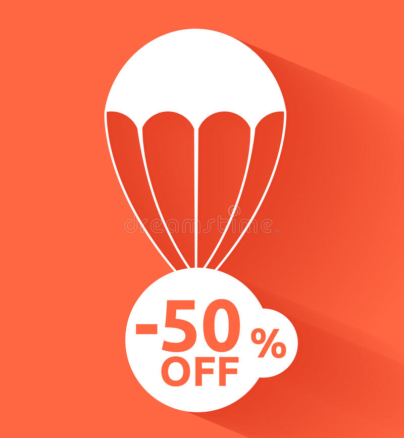 Discount parachute. This is file of EPS10 format stock illustration