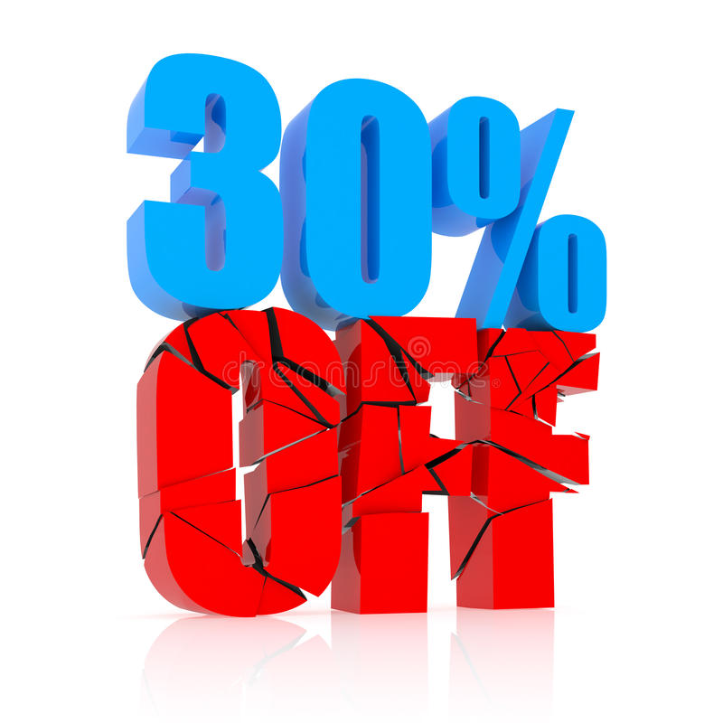 30% discount royalty free illustration