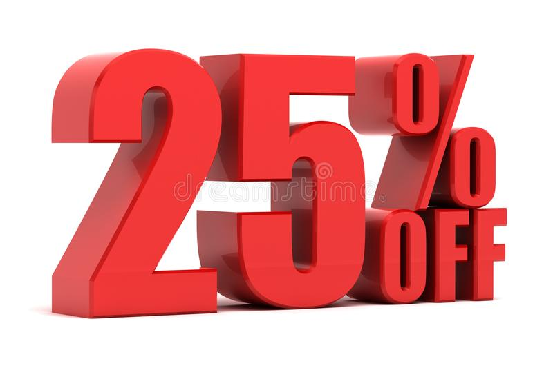 25 percent off promotion vector illustration