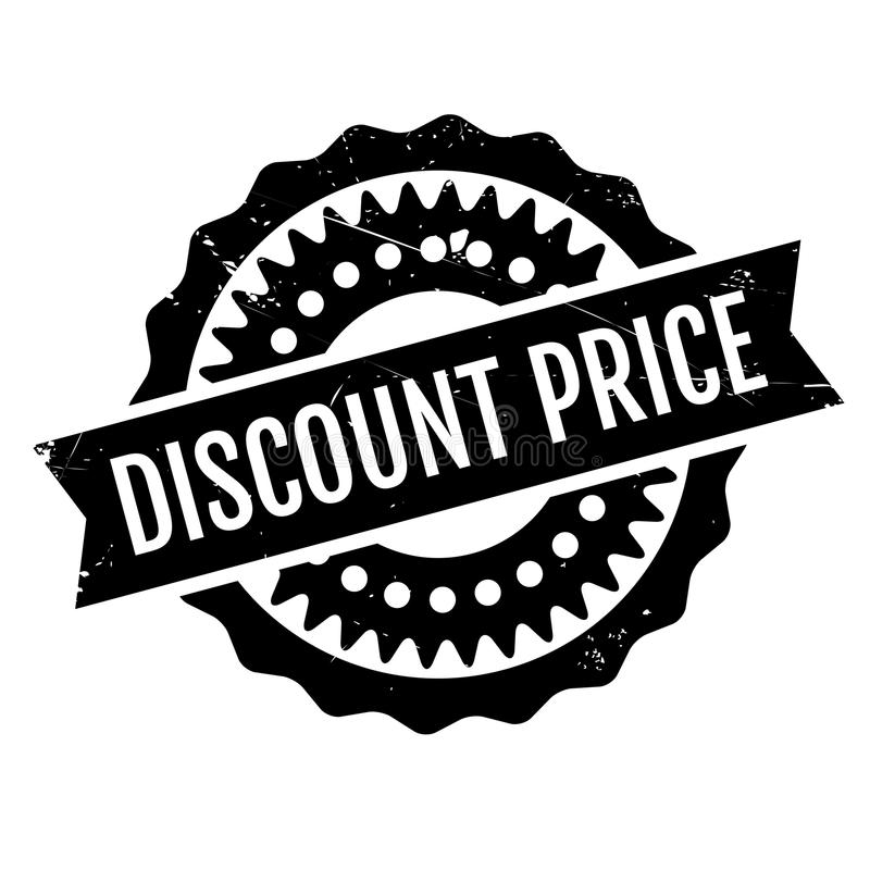 Discount Price rubber stamp royalty free illustration