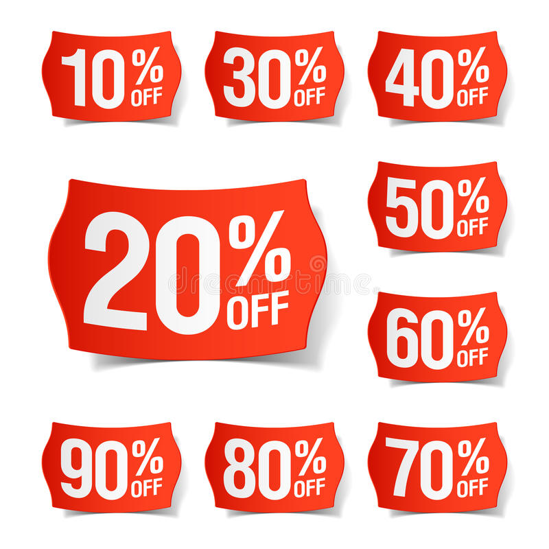 Discount price tags vector illustration