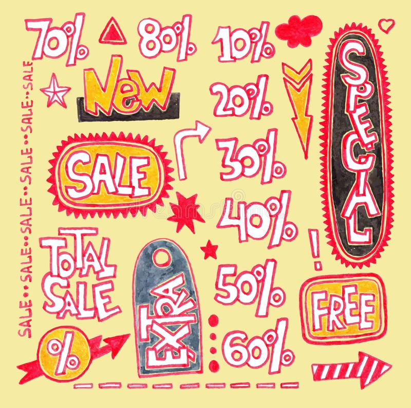 Discount sale stickers and tags