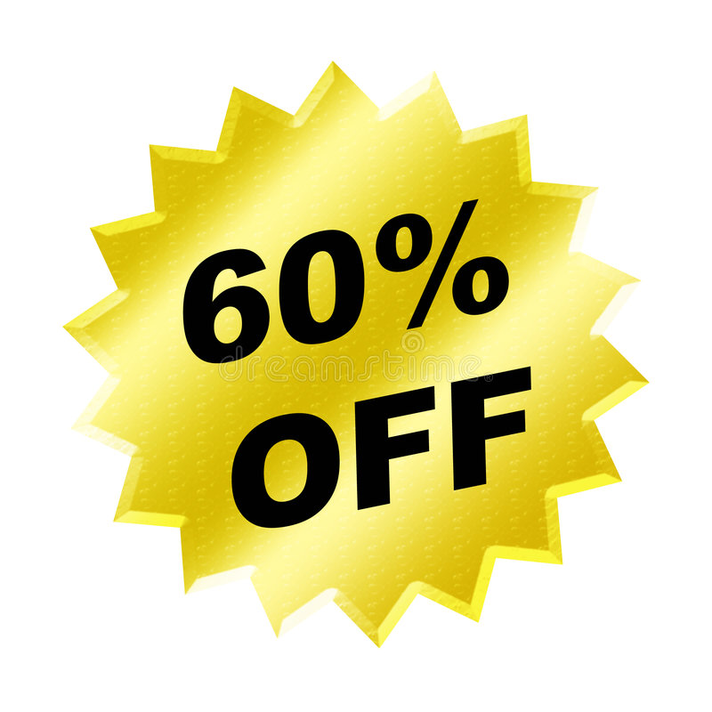 Discount sign stock illustration