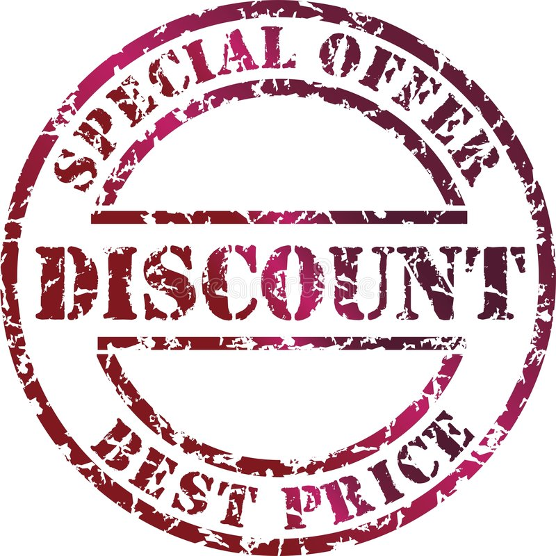 Discount stamp stock illustration