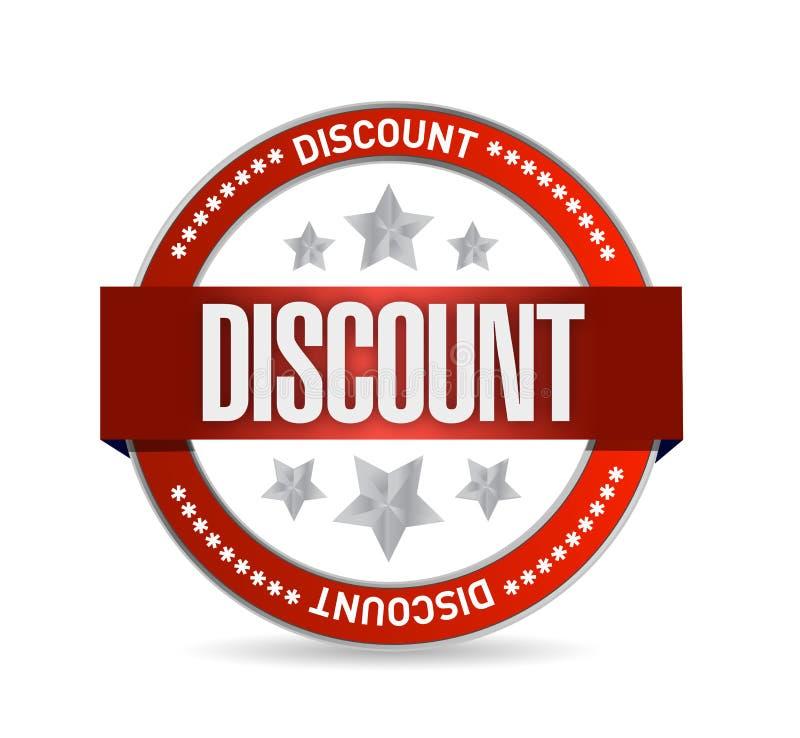 Discount Stamp seal illustration design. Over a white background stock illustration