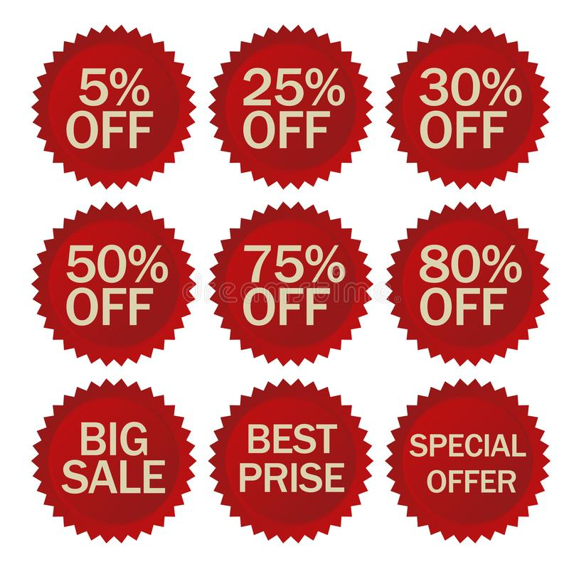Download discount stickers set vector stock vector illustration of consumer banner 108006760