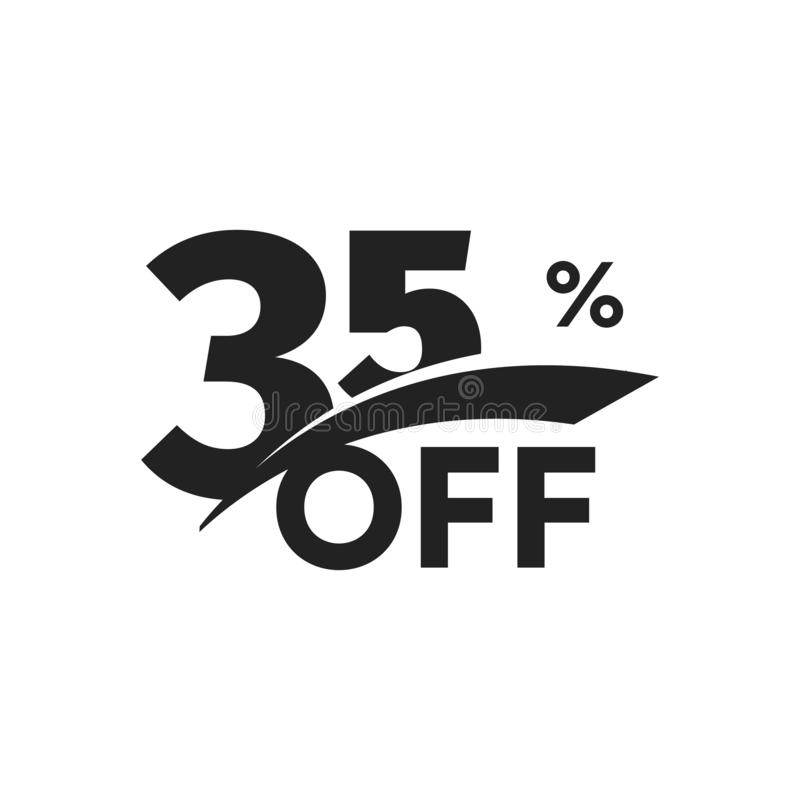 Discount symbol. Business promotion sticker. Hot season sale label, holiday coupon icon. Template for promo flyer royalty free illustration