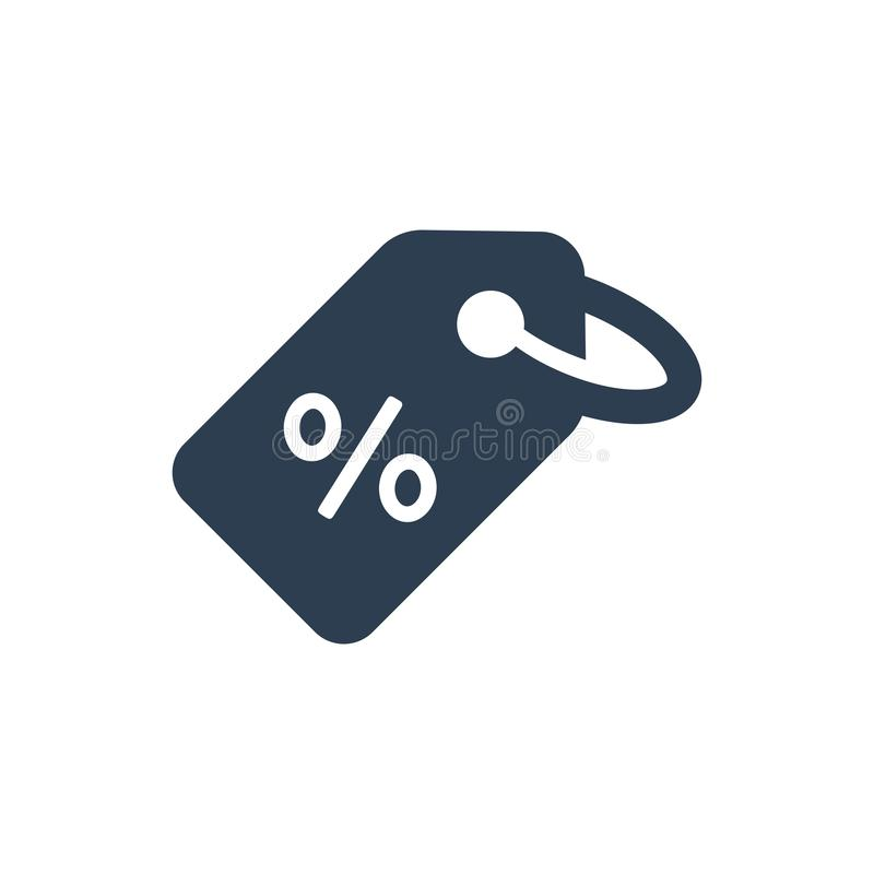 Discount Tag Icon. Simple Illustration Of A Discount Tag Icon royalty free illustration