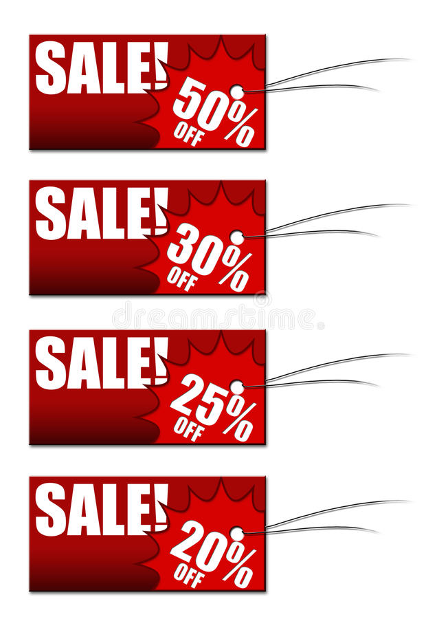 Free Discount Tags Royalty Free Stock Photo - 12696935
