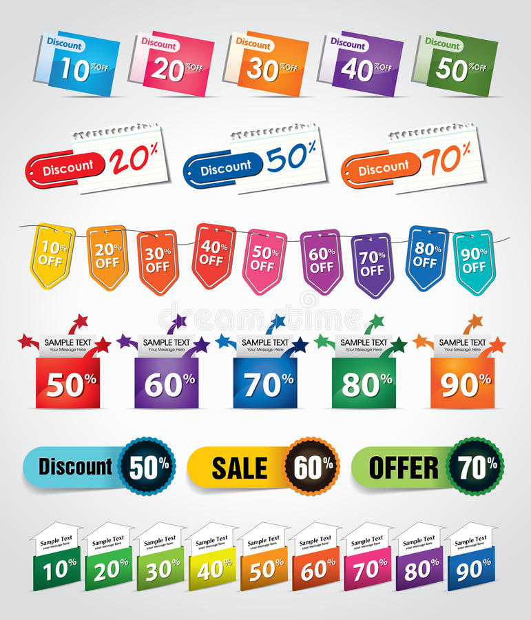 Free Discount Tags & Labels Stock Images - 21532694