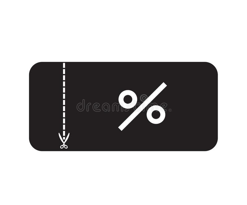 Discount ticket icon on white background. flat style. shopping voucher icon for your web site design, logo, app, UI. coupon symbol stock illustration