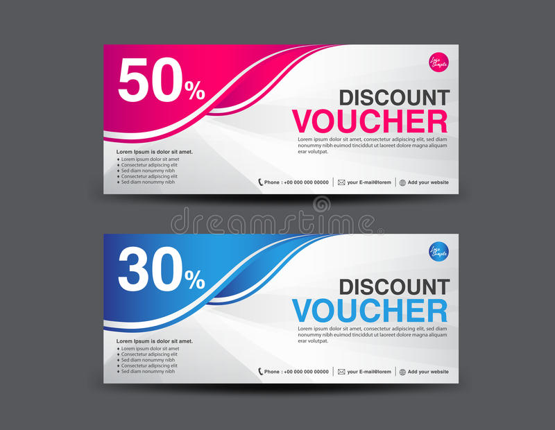 discount voucher template coupon design ticket banner template stock vector image 69900216. Black Bedroom Furniture Sets. Home Design Ideas