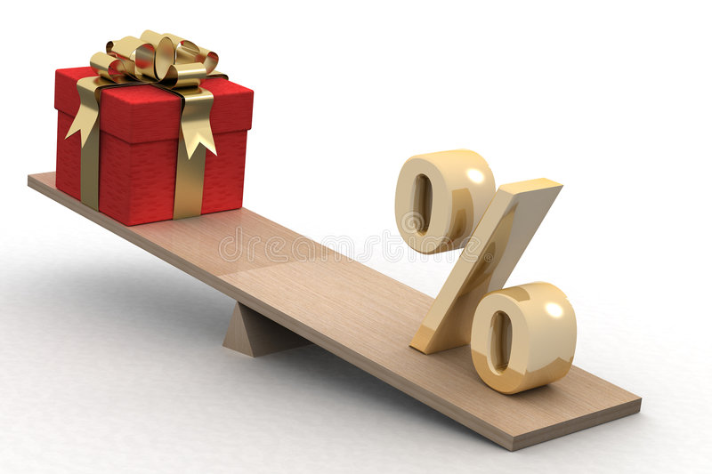 Discounts for gifts. stock illustration