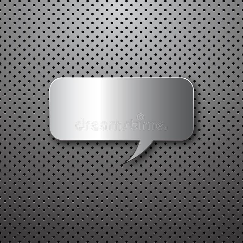 Discours abstrait en métal buble illustration libre de droits