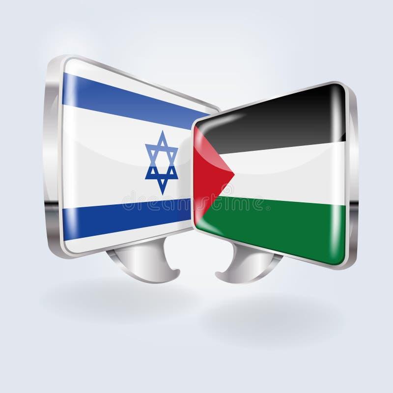 Discours avec l'Israël et la Palestine illustration libre de droits