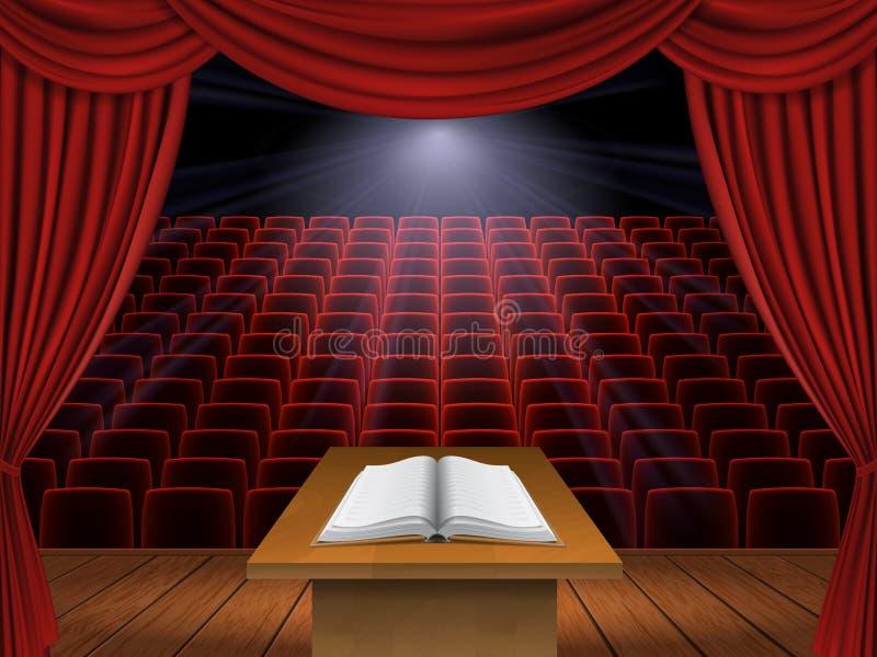 Discours du podium illustration libre de droits