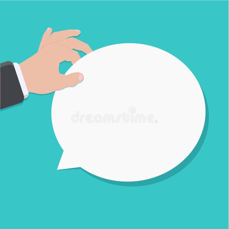 Discours plat moderne de bulle de vecteur illustration libre de droits