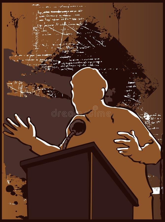 Discours politique illustration stock