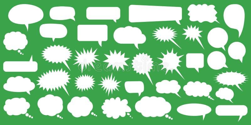 discours réglé de JPEG de formats procurables des bulles eps8 Bulles blanches de la parole de vecteur vide vide Conception de mot illustration stock