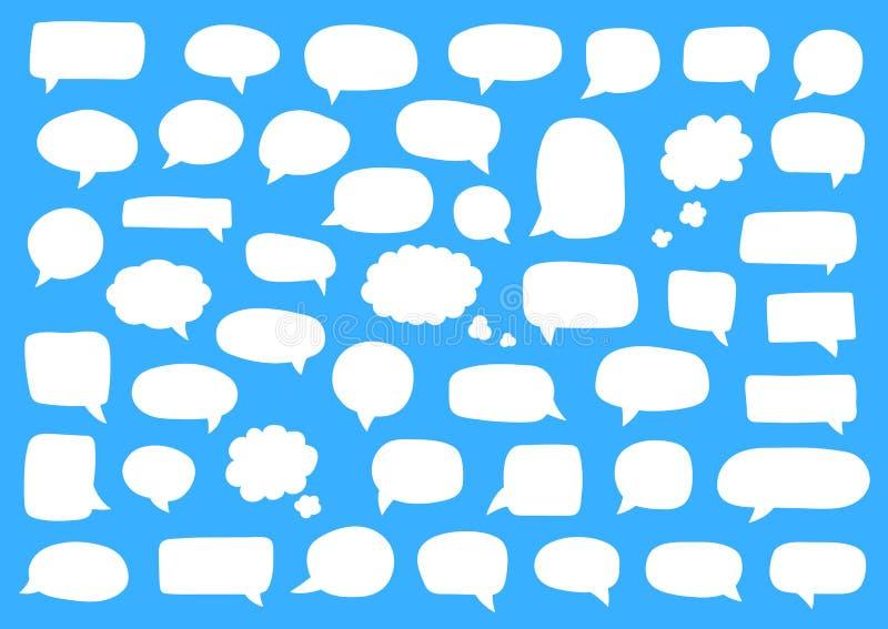 discours r?gl? de JPEG de formats procurables des bulles eps8 Rétros bulles comiques vides de blanc collants Ballons de dialogue  illustration libre de droits