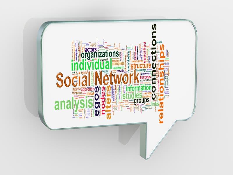 discours social de bulle du réseau 3d illustration libre de droits