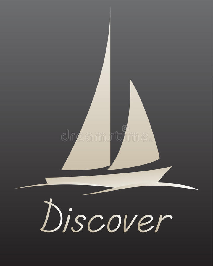 Download Discover stock vector. Illustration of modern, calm, boat - 23732065