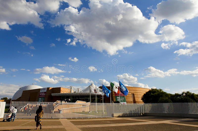 Discover Museum. In Aguascalientes, Mexico. One of the sites, which was celebrated World Habitat Day, organized by the United Nations, with the theme: Cities stock image