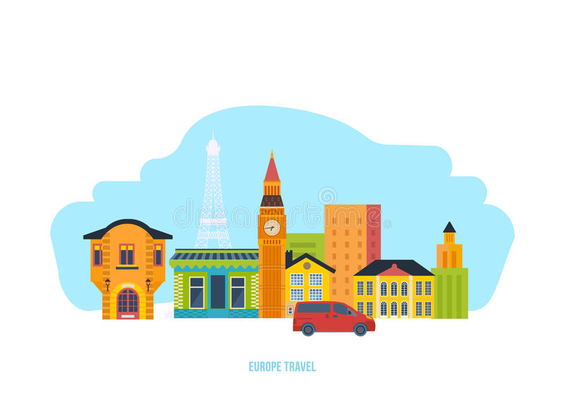 Download Discover The Sights, Culture, Traditions, Atmosphere, Surroundings, City And Streets. Stock Vector - Illustration of street, landmarks: 88258925