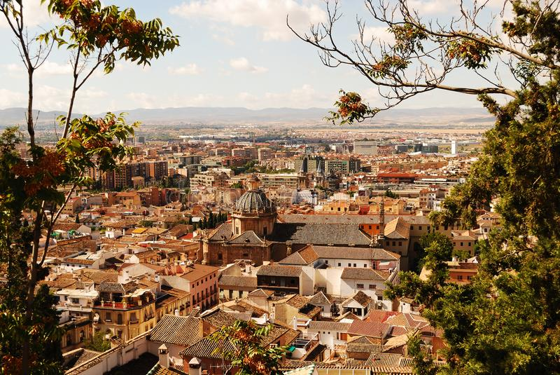 A spectacular view of Granada in southern Spain. Discovering the beautiful Andalusia in southern Spain stock image