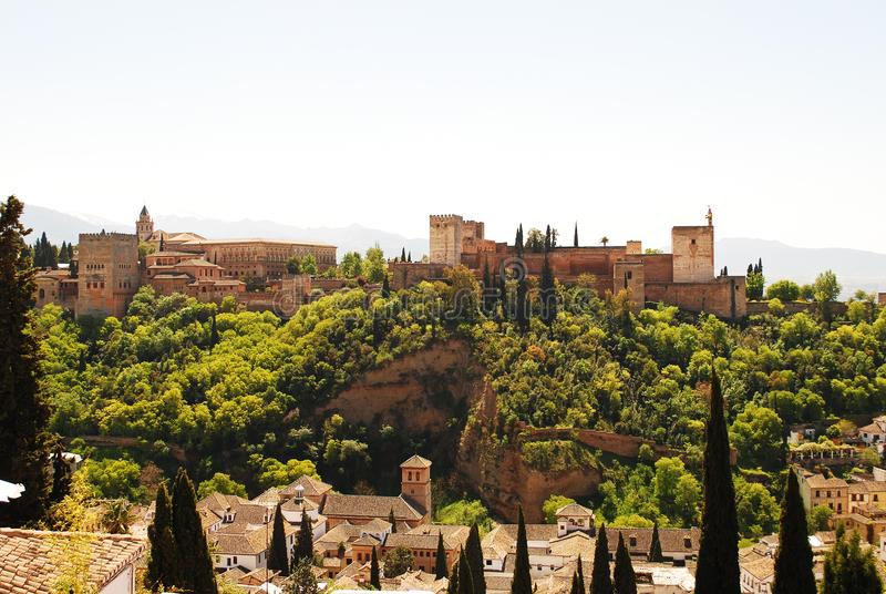 The wonderful Alhambra of Granada. Discovering the beautiful Andalusia in southern Spain royalty free stock photography