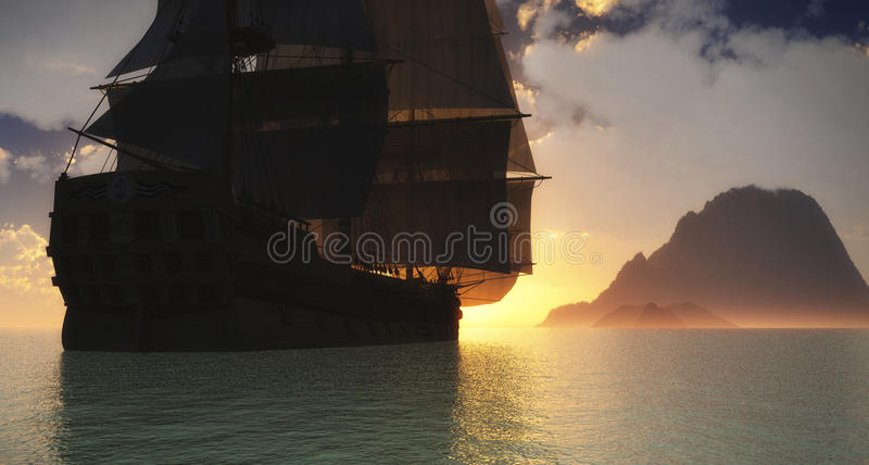 Download Discovering New Land Illustration Royalty Free Stock Photo - Image: 21521865
