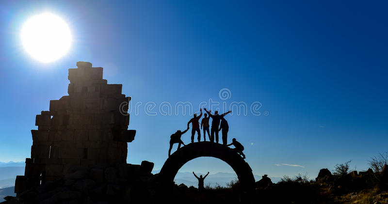 Discovery people & adventurer group. Discovery time and peace concept ;discovery people & adventurer group royalty free stock images