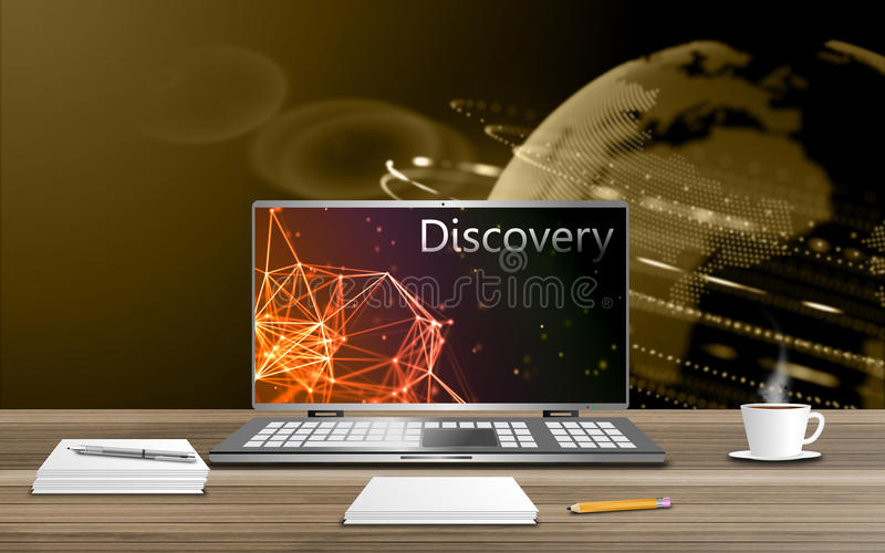 Discovery and study. Exploring new technological possibilities concept stock illustration