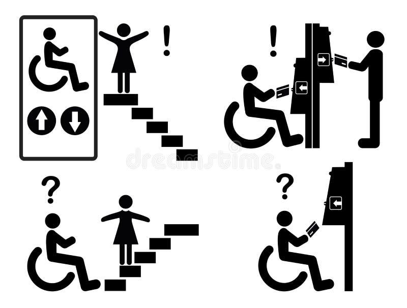Discriminação contra a inclusão ilustração stock