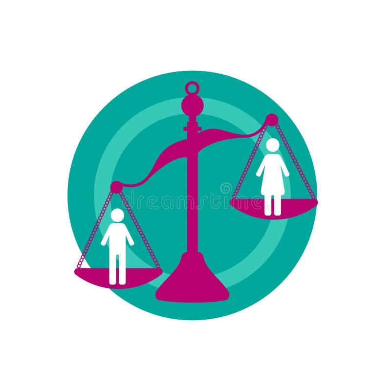 Discriminação contra mulheres ilustração royalty free