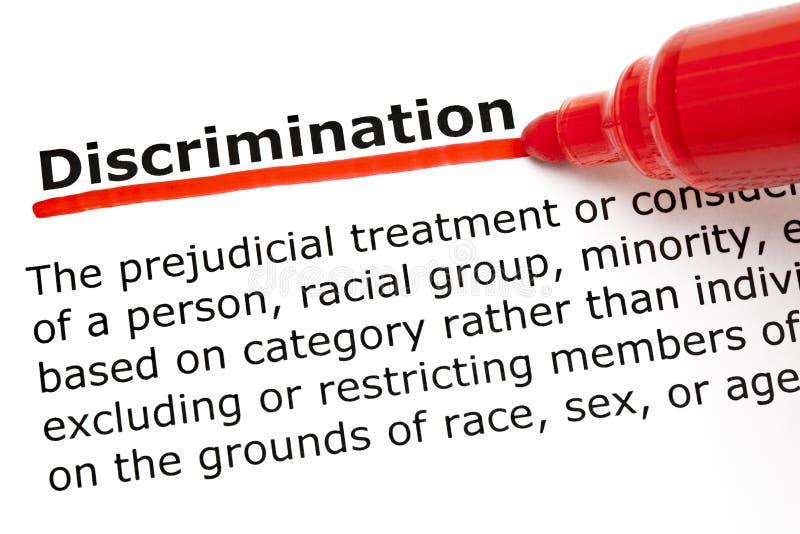 Discrimination definition royalty free stock photos