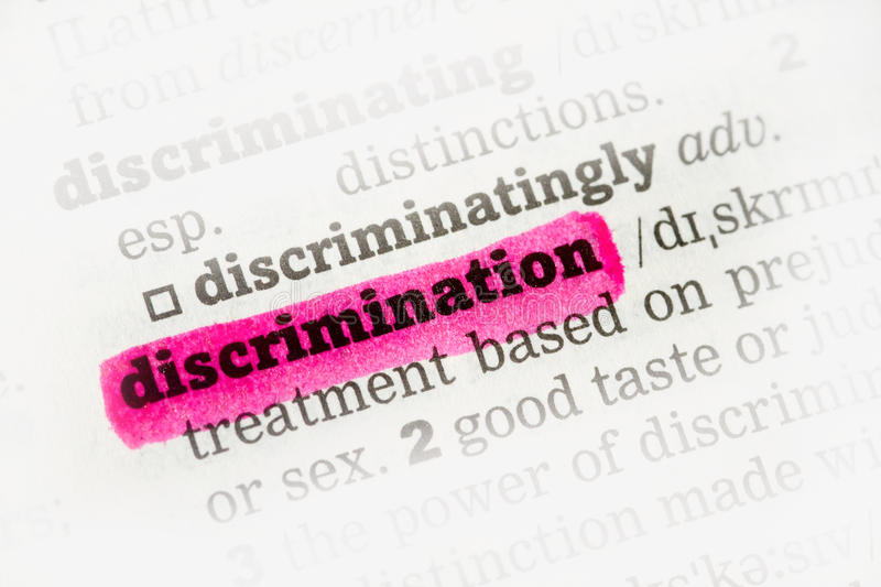 Download Discrimination  Dictionary Definition Stock Image - Image: 32009697
