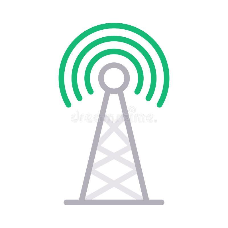 Discrimination raciale d'antenne icône de vecteur illustration stock