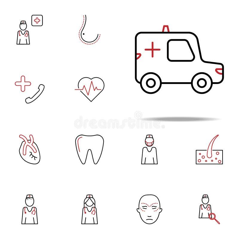 Discrimination raciale icône d'ambulance Ensemble universel d'icônes médicales pour le Web et le mobile illustration libre de droits