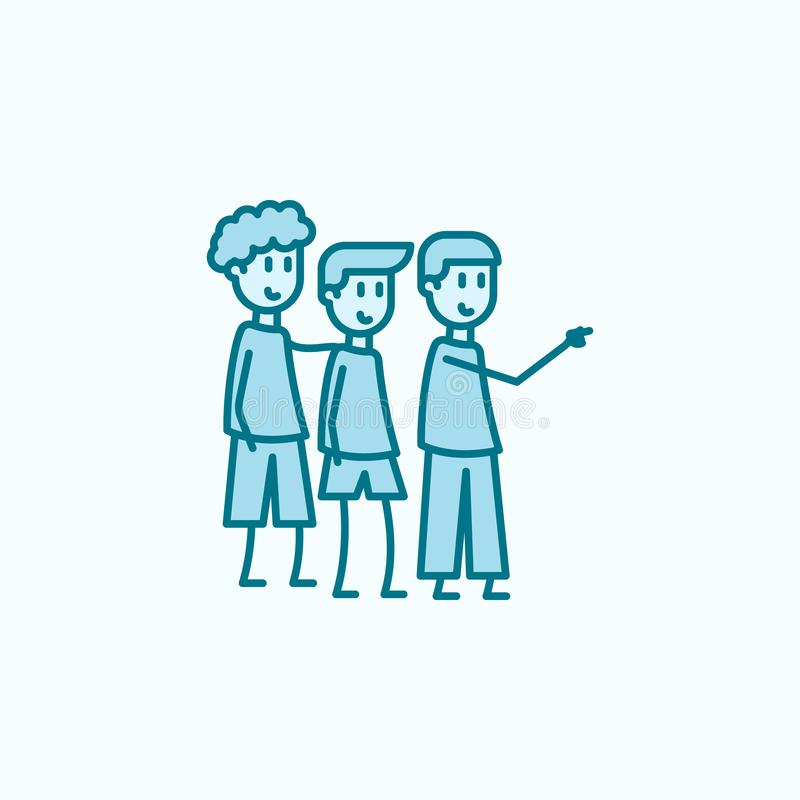 discrimination raciale icône de l'amitié 2 d'enfance Illustration simple d'élément coloré conception de symbole d'ensemble d'amit illustration libre de droits