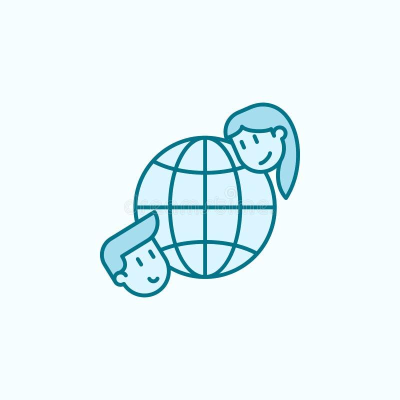 discrimination raciale icône de l'amitié 2 globaux Illustration simple d'élément coloré conception globale de symbole d'ensemble  illustration de vecteur