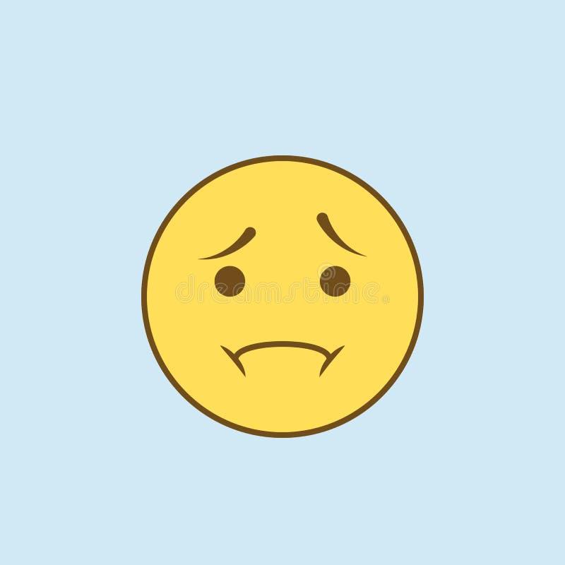 discrimination raciale icône de la déception 2 Illustration jaune et brune simple d'élément conception de symbole d'ensemble de c illustration stock