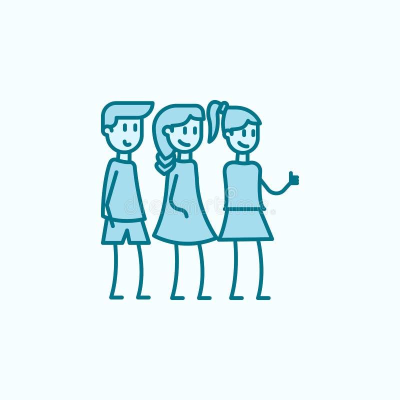 discrimination raciale icône des amis 2 Illustration simple d'élément coloré conception de symbole d'ensemble d'amis de l'amitié  illustration de vecteur