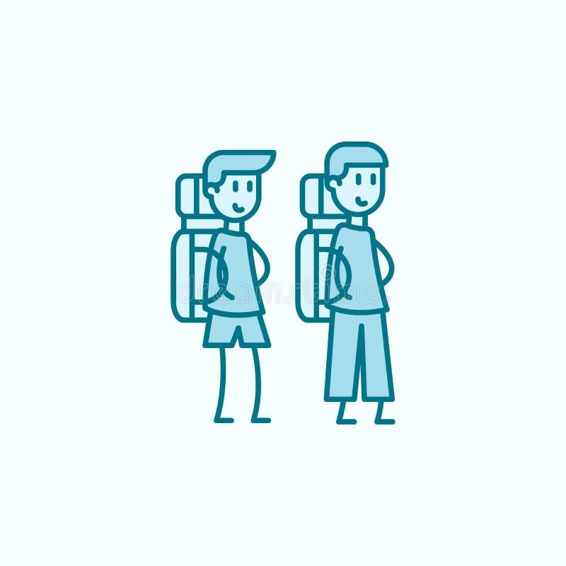 discrimination raciale icône des camarades de classe 2 Illustration simple d'élément coloré conception de symbole d'ensemble de c illustration de vecteur
