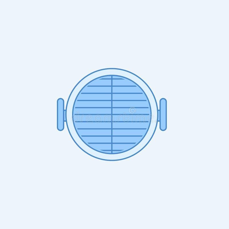 Discrimination raciale icône du barbecue 2 Illustration bleue et blanche simple d'élément Conception de symbole d'ensemble de con illustration stock