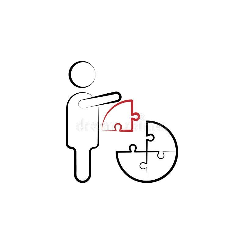 Discrimination raciale icône du puzzle 2 de solution de gestion Illustration simple d'élément coloré DES de symbole d'ensemble de illustration libre de droits