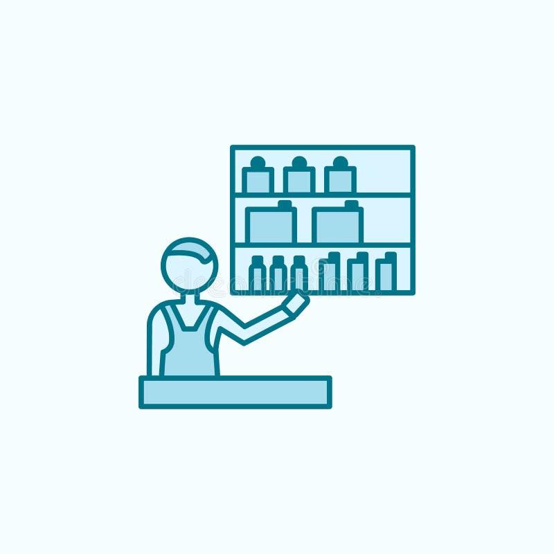 discrimination raciale icône du vendeur 2 de cosmétiques Illustration simple d'élément coloré conception de symbole d'ensemble de illustration stock